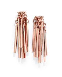 Eddie Borgo - Pink Bar Fringe Earrings - Lyst