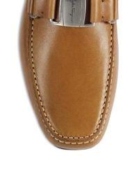 Ferragamo - Brown Sardegna Vara Bit Leather Drivers for Men - Lyst