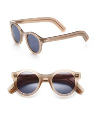 Cutler & Gross - Natural Classic 51mm Round Sunglasses - Lyst