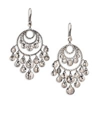 John Hardy | Metallic Palu Sterling Silver Disc Chandelier Earrings | Lyst