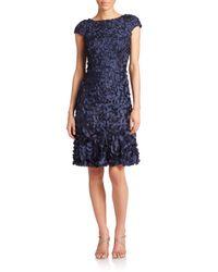 THEIA - Blue Embellished Sheath Dress  - Lyst