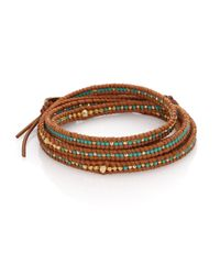 Chan Luu | Brown Beaded Leather Multi-row Wrap Bracelet | Lyst