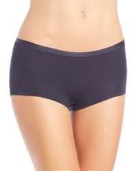 Hanro - Blue Soft Touch Boyshorts - Lyst