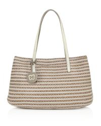 Eric Javits   Brown Dame Brooke Woven Straw & Textile Tote   Lyst