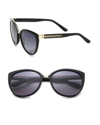Jimmy Choo | Black Danas 56mm Modified Cat Eye Sunglasses | Lyst