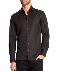 Ferragamo | Black Tonal Gancini Button-down Shirt for Men | Lyst