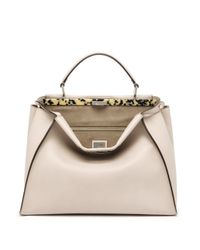 Fendi | Natural Peekaboo Large Tortoise-accented Satchel | Lyst