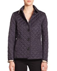 Burberry | Blue Ashurst Diamond-quilted Jacket | Lyst