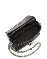 Proenza Schouler - Black Ps1 Courier Tiny Double-Chain Leather Crossbody Bag - Lyst