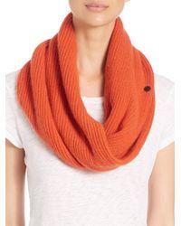 Rag & Bone - Orange Cynthia Cashmere & Wool Circle Scarf - Lyst