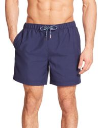Original Penguin - Blue Solid Volley Swim Trunks for Men - Lyst