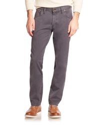 Billy Reid - Gray Ashland Cotton Jeans for Men - Lyst