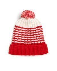 Gucci | Red Knit Wool Pom-pom Hat for Men | Lyst