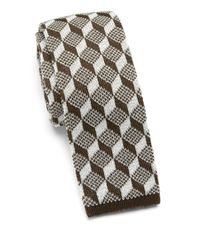 Saks Fifth Avenue | Black Anonymous Ism Graphic Print Knit Cotton Tie for Men | Lyst