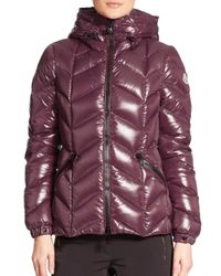 Moncler - Red Badete Hooded Down Shell Jacket - Lyst