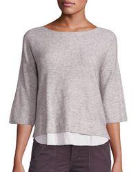 Joie | Gray Symphorienne Wool/cashmere Sweater | Lyst
