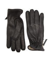 Want Les Essentiels De La Vie - Black Chopin Leather Zip Gloves for Men - Lyst