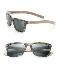 Giorgio Armani - Blue 56mm Square Sunglasses for Men - Lyst