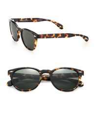 Oliver Peoples - Black Sheldrake Plus 52mm Wayfarer Sunglasses - Lyst