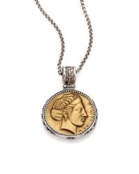 Konstantino | Metallic Kerma Olympia Bronze & Sterling Silver Coin Pendant | Lyst