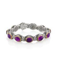 Konstantino | Purple Erato Amethyst, 18k Yellow Gold & Sterling Silver Bracelet | Lyst