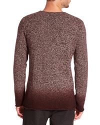 Vince - Purple Ombre Marled Cashmere Sweater for Men - Lyst