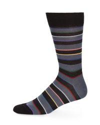 Paul Smith - Black Rainbow Block Striped Socks for Men - Lyst
