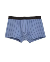 Hanro | Blue Striped Cotton Boxer Briefs for Men | Lyst