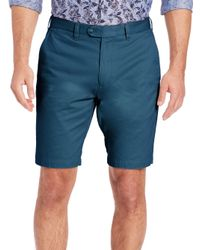 Saks Fifth Avenue | Blue Pima Cotton Shorts for Men | Lyst