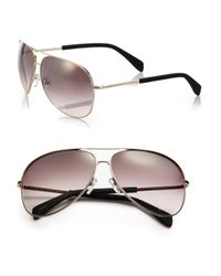 Marc By Marc Jacobs | Brown Gradient 63mm Aviator Sunglasses | Lyst