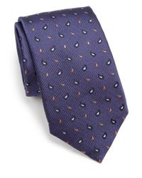 Eton of Sweden - Blue Textured Paisley Silk Tie for Men - Lyst