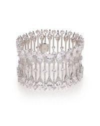 Adriana Orsini | Metallic Statement Pave Crystal Line Bracelet | Lyst