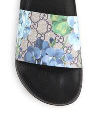 Gucci - Multicolor Pursuit Blooms Print Sandals - Lyst