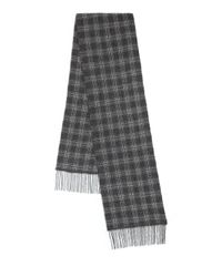 John Varvatos | Black Plaid Wool & Cashmere Scarf for Men | Lyst