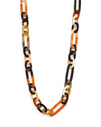 Nest | Multicolor Horn Link Necklace | Lyst