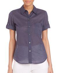 Theory - Purple Pauleen Camper Shirt - Lyst