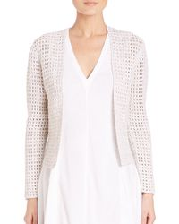 Theory - White Ganes D. Iras Open-knit Cardigan - Lyst