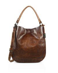 Frye | Brown Melissa Leather Hobo Bag | Lyst