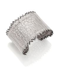 Coomi | Metallic Diamond & Sterling Silver Cuff Bracelet | Lyst