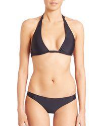 Mikoh Swimwear | Black St. John Knot Halter Bikini Top | Lyst