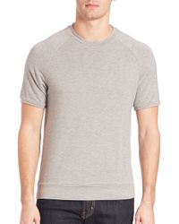 Saks Fifth Avenue | Gray Modern Crewneck Raglan Tee for Men | Lyst