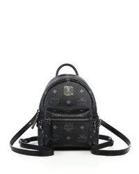 MCM | Black Bebe Boo X Mini Studded Coated Canvas Backpack | Lyst