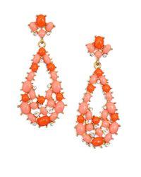 Kenneth Jay Lane | Orange Coral Drop Earrings | Lyst