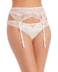 Stella McCartney - White Kate Kissing Suspender Belt - Lyst