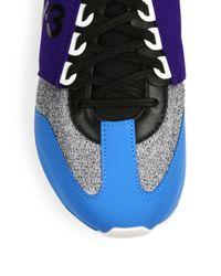 Y-3 - Blue Rhita Sport Multicolor Sneakers - Lyst