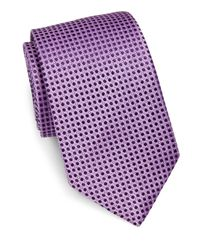 Eton of Sweden | Purple Polka Dot Silk Tie for Men | Lyst