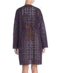 MSGM - Black Crochet Coat - Lyst