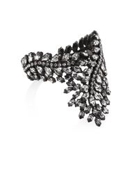 Erickson Beamon - Black Frequent Flyer Crystal Leaf Bracelet - Lyst