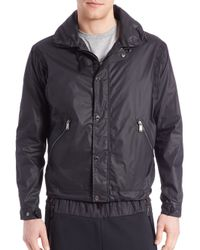Kent And Curwen | Black Shawl Collar Parachute Jacket for Men | Lyst