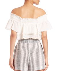 Apiece Apart - Natural Rosal Off-the-shoulder Crop Top - Lyst